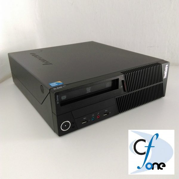 Side view of a Lenovo thinkcenter M90P